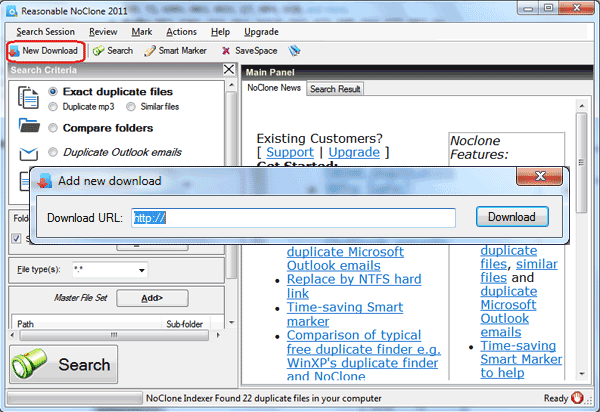 Download Manager Interface